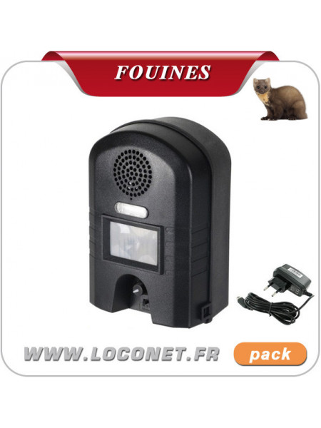 Pack Ultrason + Chargeur contre chiens, chats, lapins, fouines