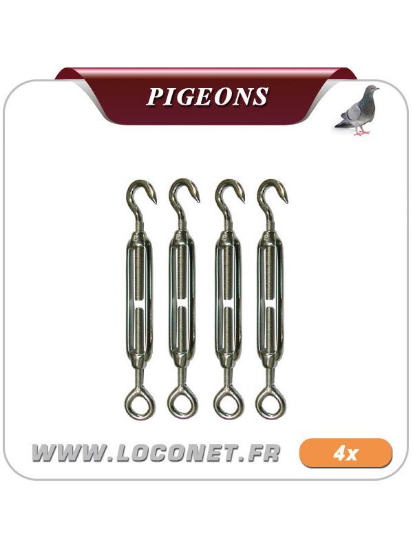 Tendeurs pour filets anti pigeon - Lot de 4