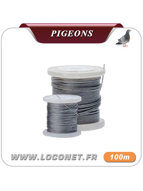Câble de tension pour filets anti pigeons - 100 mètres