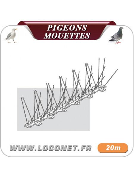 Pics anti pigeons et mouettes ECOPIC E6 - 20 mètres
