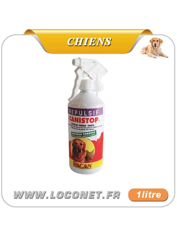 Répulsif liquide pour chien à l'exterieur - CANISTOP