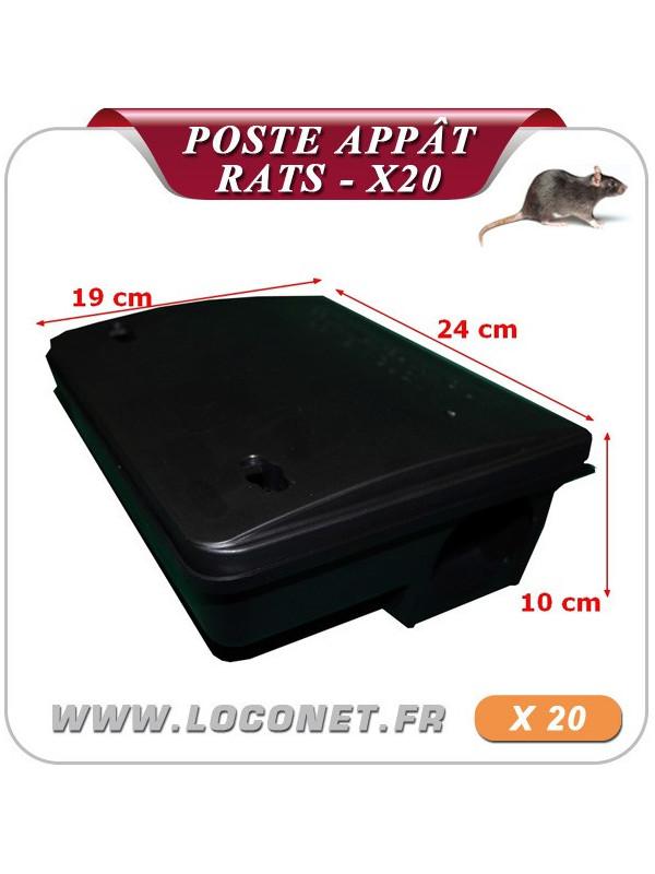 20 Poste d'appâtage attrape rats BETABOX