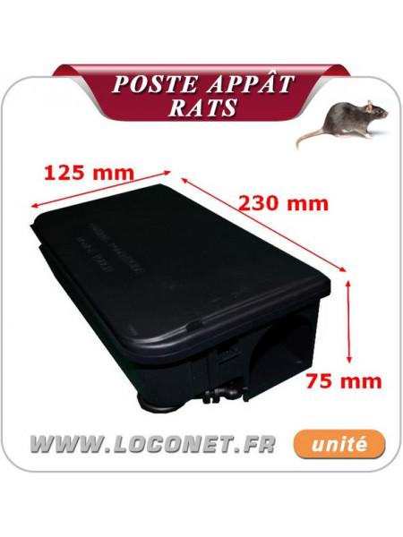 Poste d'appâtage sécurisé pour les rats Coral