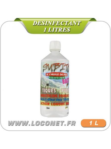 BACTO-S concentré désinfectant fongicide en bidon de 1 litre