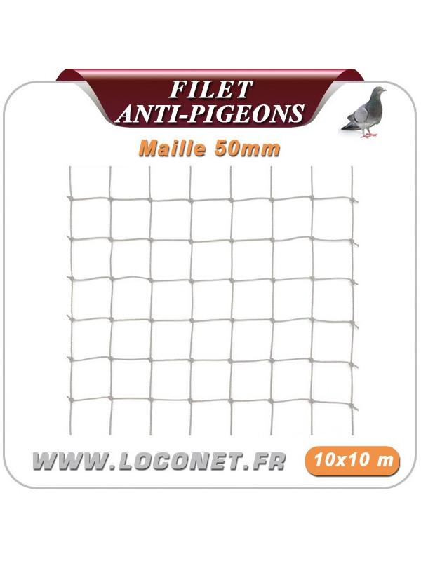Filet anti-pigeons - Coloris pierre - 10 x 10 mètres - Maille 50 mm ECOPIC