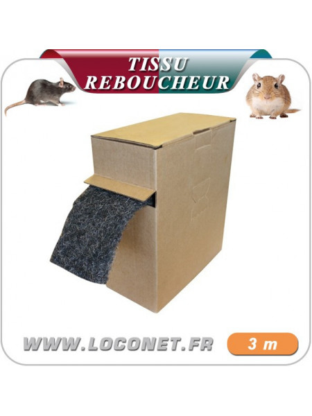 XCLUDER tissu reboucheur contre rongeurs, fouines et répulsif en carton de (10cm x 3 mètres)