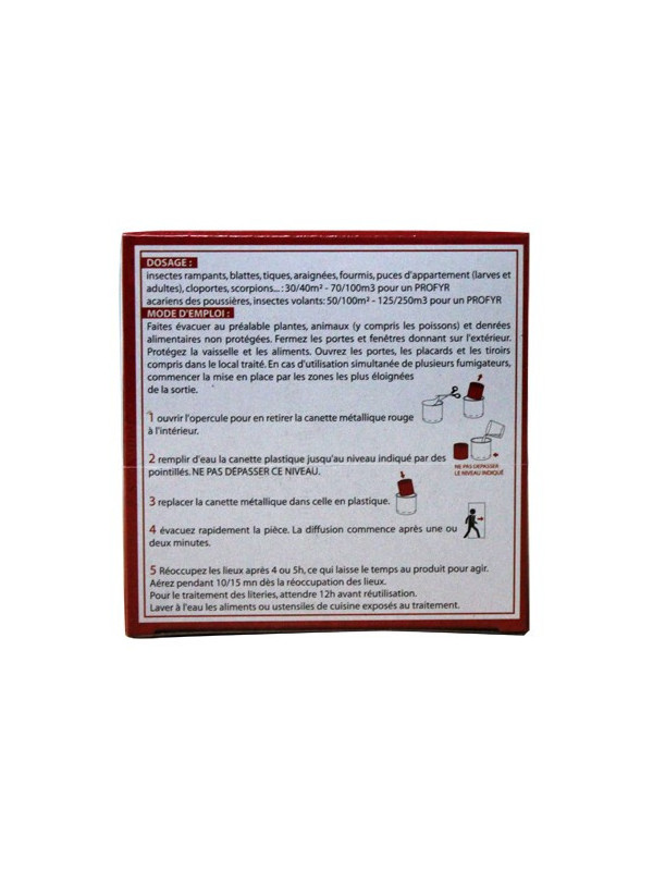 Fumigène insecticide anti puces PROFYR