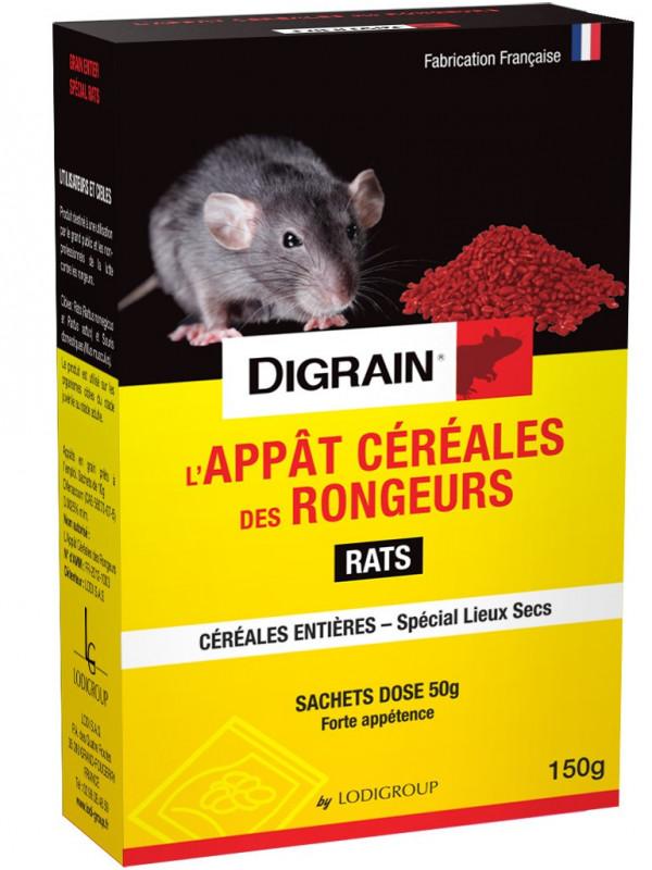 L'appat céréales des Rongeurs - blé à forte appétence DIGRAIN - 150 grs