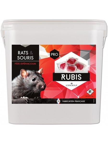 RUBIS PASTA Pate raticide à usage professionnel 5Kg