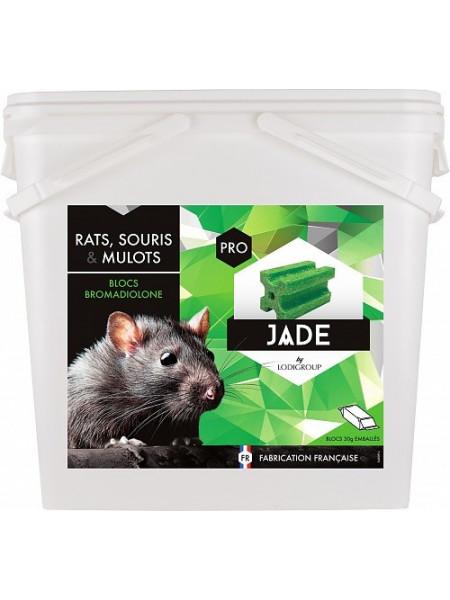 JADE Bloc Raticide égout avec crochet 0,005% Bromadiolone - 10 Kgs