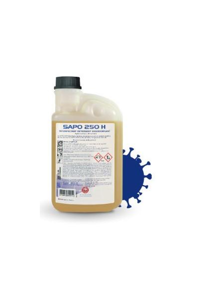 Sapo 250H 1 litre Virucide Concenté Covid19  (hôpitaux, cliniques, maisons de retraite,  crèches…).