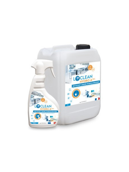 LOCLEAN HYDRO A 70%  Action virucide Covid 19.  750 ml
