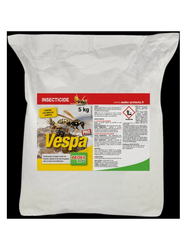 Poudre sèche Répulsif  anti guêpes et frelons - VESPA 5 kg