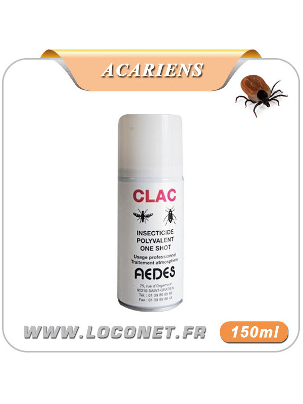 Aérosol insecticide anti acariens - CLAC ONE SHOT
