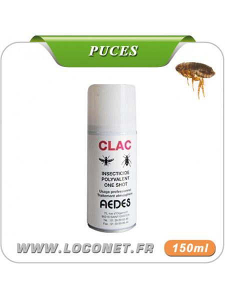 Aérosol insecticide contre puces CLAC ONE SHOT