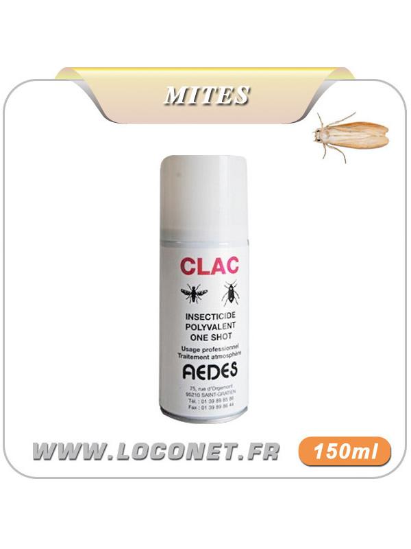 Aérosol insecticide anti mites alimentaires et textiles - CLAC ONE SHOT