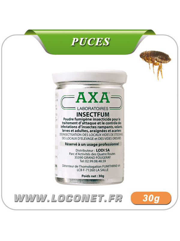Fumigène insecticide anti puces AXA INSECT'FUM