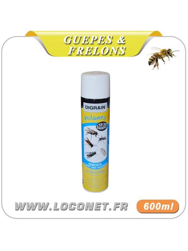 Aérosol contre guêpes et frelons - DIGRAIN VOLANTS